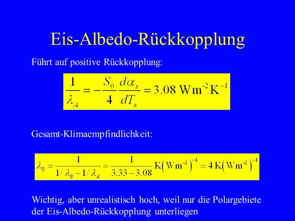 Eis-Albedo-Rückkopplung Jahresgang der Oberflächenalbedo s.