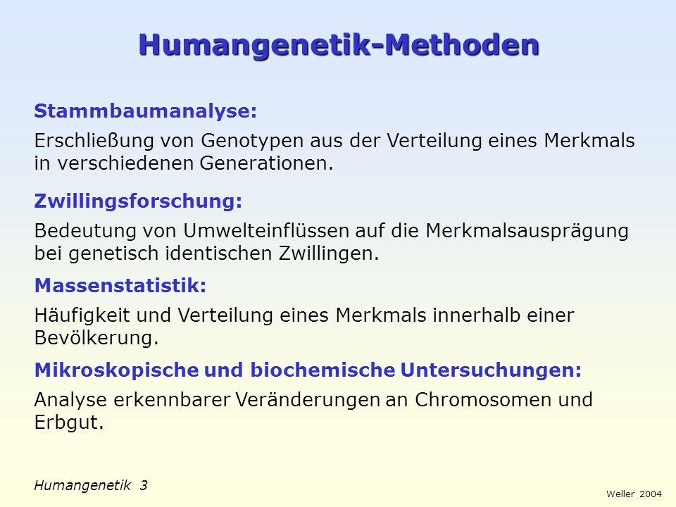 Weller 2004 Humangenetik 4 Stammbaum-Symbole Ehepaar Merkmalsträger Geschwister zweieiige Zwillingeeineiige Zwillinge