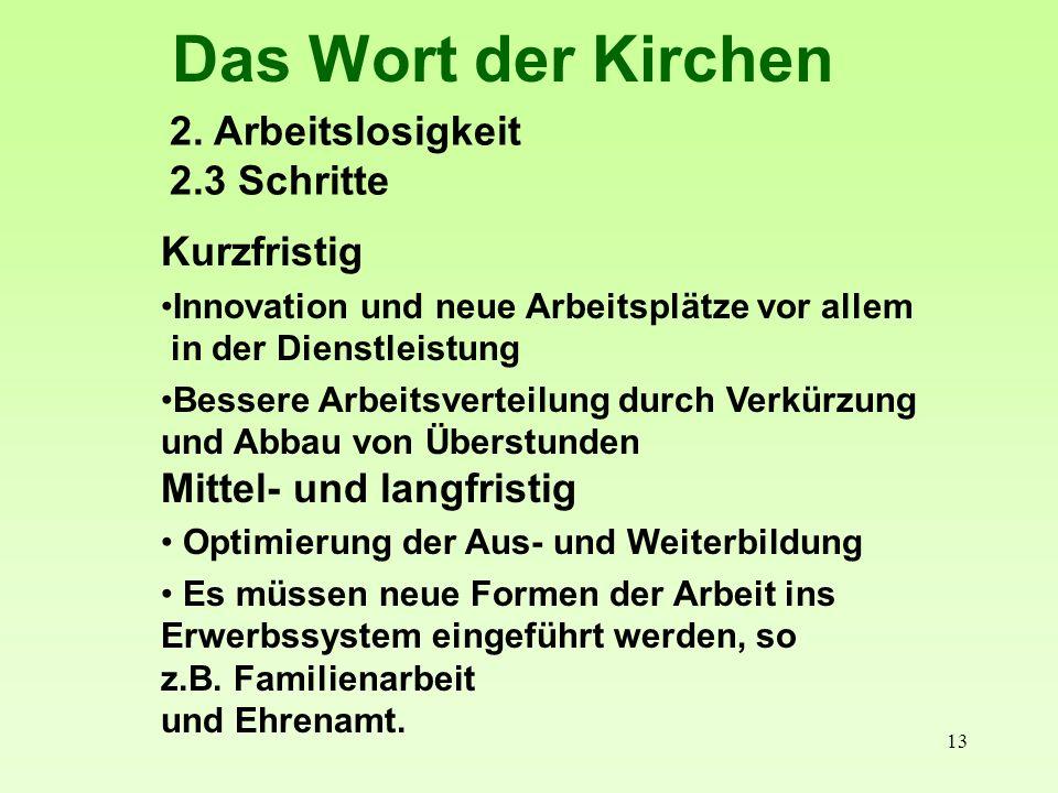 14 Das Wort der Kirchen 3.