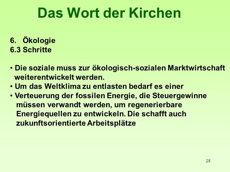 29 Das Wort der Kirchen Die Kirchen formulierten in ihrem Sozial- und Wirtschaftswort 1997: Ebenso gründet die Soziale Marktwirtschaft auf anthropologischen und ethischen Vorentscheidungen.