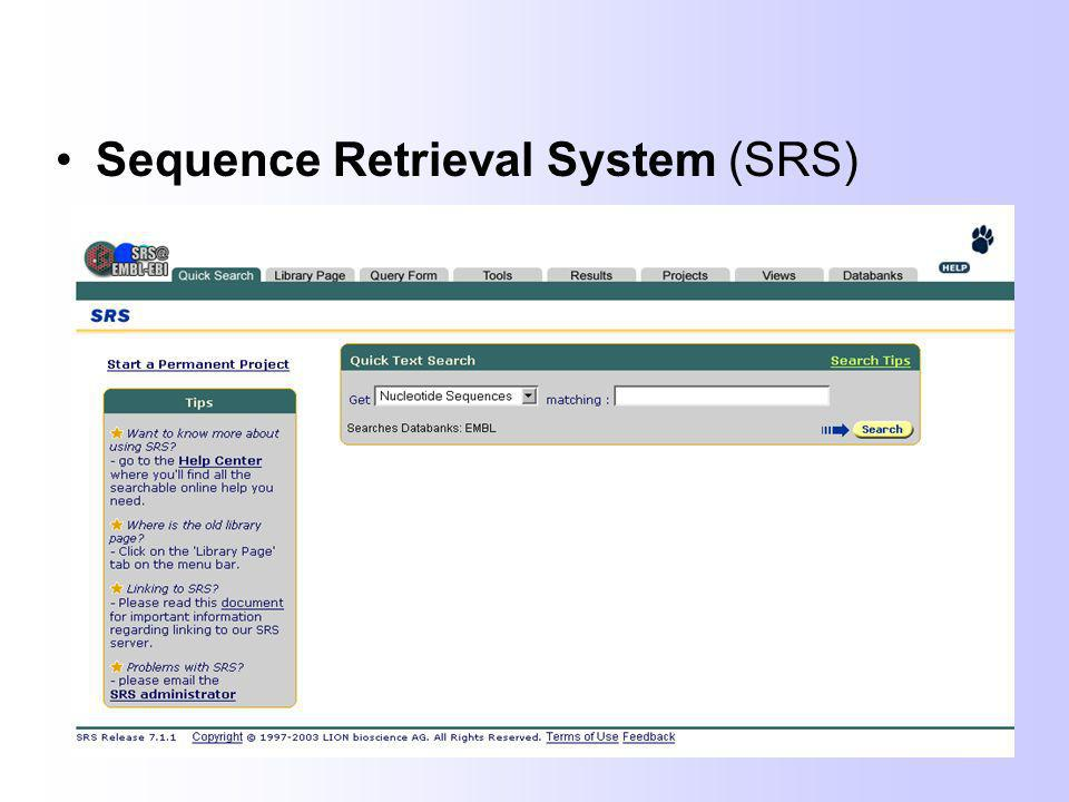 Sequence Retrieval System (SRS)