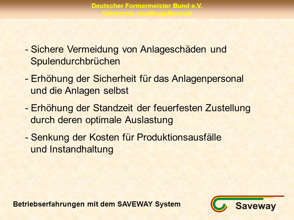 Deutscher Formermeister Bund e.V.Ortsverein Isselburg-Bocholt Vielen Dank für Ihre Aufmerksamkeit.