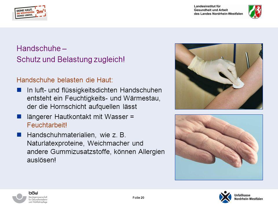 Folie 20 Handschuhe – Schutz und Belastung zugleich.