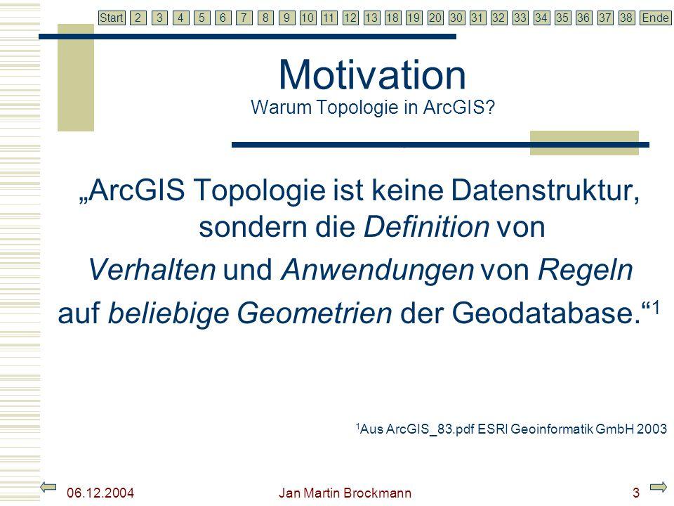 7 2345679810111213181920303132333435363738EndeStart 06.12.2004 Jan Martin Brockmann4 Motivation Warum Topologische Regeln.