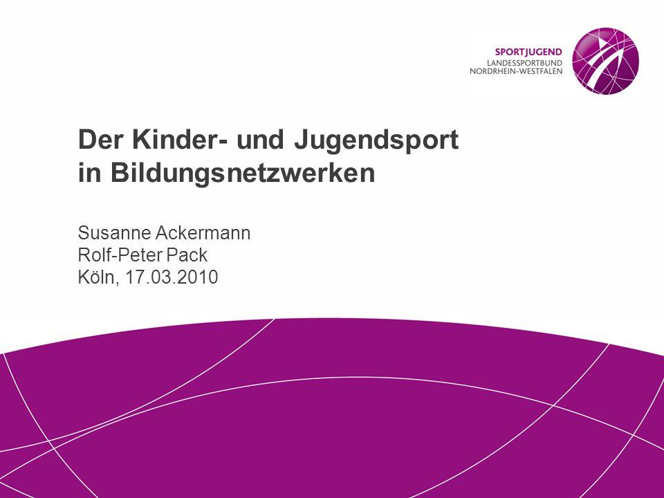 2 | Der Kinder- und Jugendsport in Bildungsnetzwerken, Köln 17.03.2010 2 Geplanter Ablauf Vorbemerkungen (Susanne Ackermann): 1.