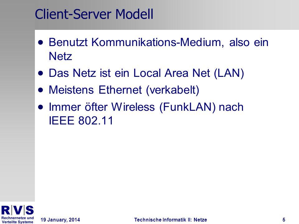 19 January, 2014Technische Informatik II: Netze6 Netz-Typen