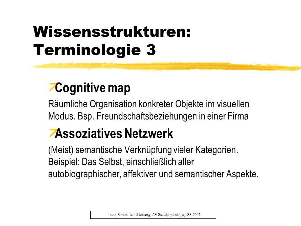 Konsistente & inkonsistente Information Lozo, Soziale Urteilsbildung, AE Sozialpsychologie, SS 2004 äErinnerungsvorteile der beiden Informationsarten äBottom-up- & Top-down-Verarbeitungsprozesse äDie Rolle der Verarbeitungskapazität (Macrae et al., 1993) äAdaptive Funktion