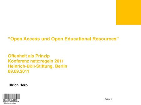 """Open Access und Open Educational Resources"""