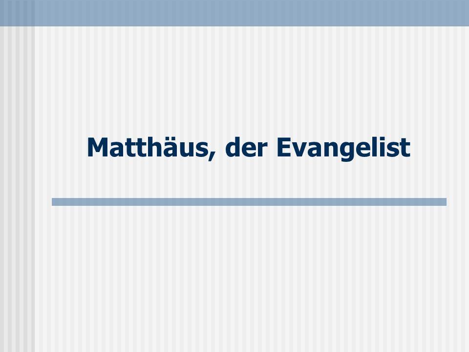 Seite 19 Der Schreiber des Evangeliums Nach altkirchlicher Tradition hat der Apostel Matthäus das erste Evangelium geschrieben.