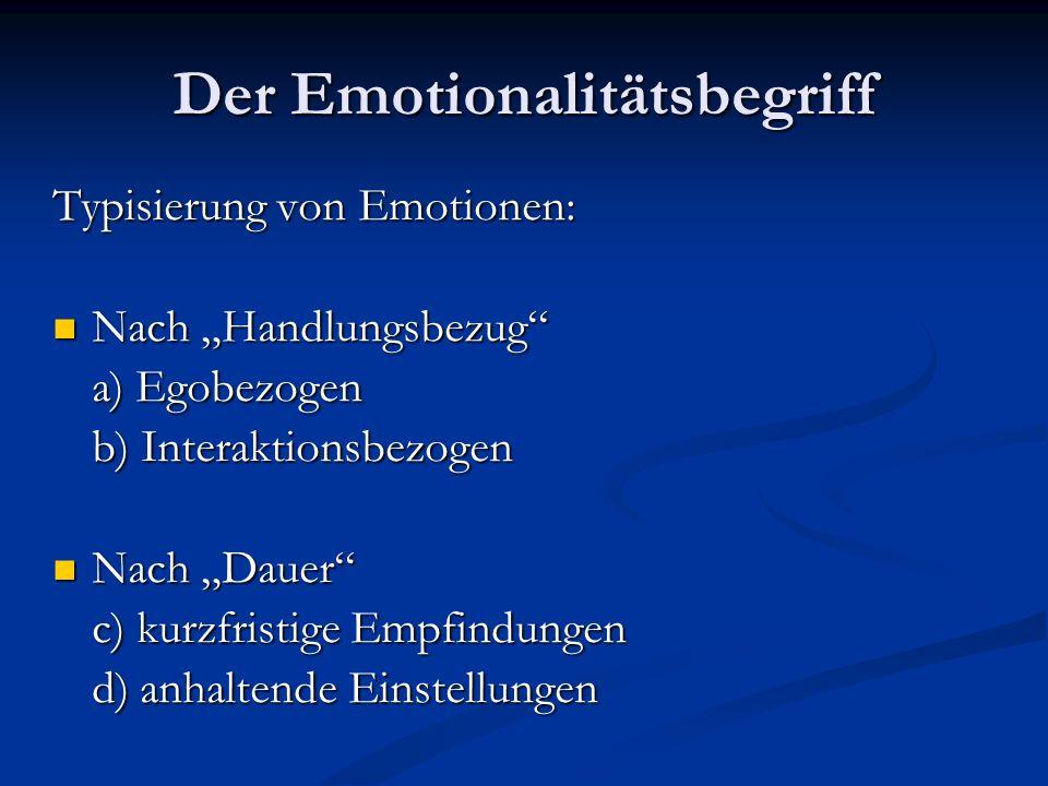 Integration von Rationalität und Emotionalität allgemein Bedingungen zur Vereinbarung von Rationalität und Emotionalität: Überzeugung der Akteure, nach bestmöglichem Ergebnis zu handeln.