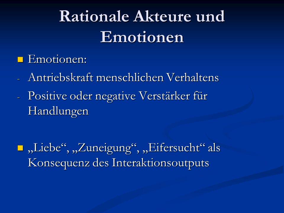 Entstehung von Emotionen: 2 Argumentationstheorien Tomkins/Plutchik (biologisch orientierte Theorie): Tomkins/Plutchik (biologisch orientierte Theorie): Verankerte emotionale Reaktionsformen bringen bestimmte Handlungen zum Ablauf Auslösereiz-> physiologische Erregung-> kognitive Deutung -> Verhalten Schachter/Singer: Schachter/Singer: Emotionen sind keine selbstevidenten Erlebniszustände, sie erhalten durch die kognitive Interpretation ihre subjektive Bedeutung als ein bestimmtes Gefühl Auslösereiz-> kognitive Deutung-> physiologische Erregung ->Verhalten