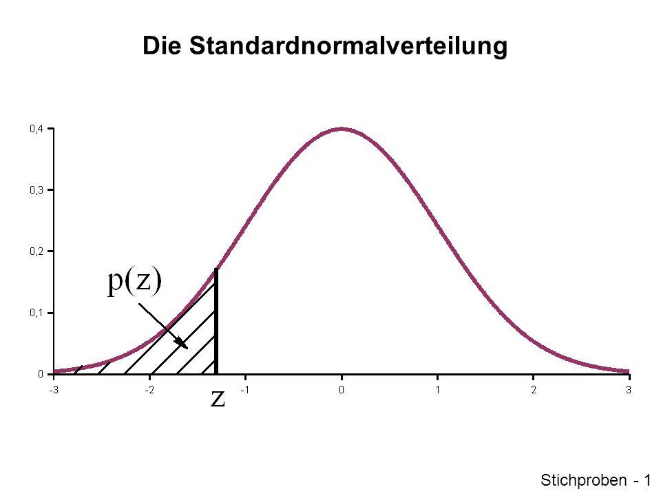 z-Standardisierung Mit der z-Standardisierung wird eine Normalverteilung in eine Standardnormalverteilung umgewandelt.