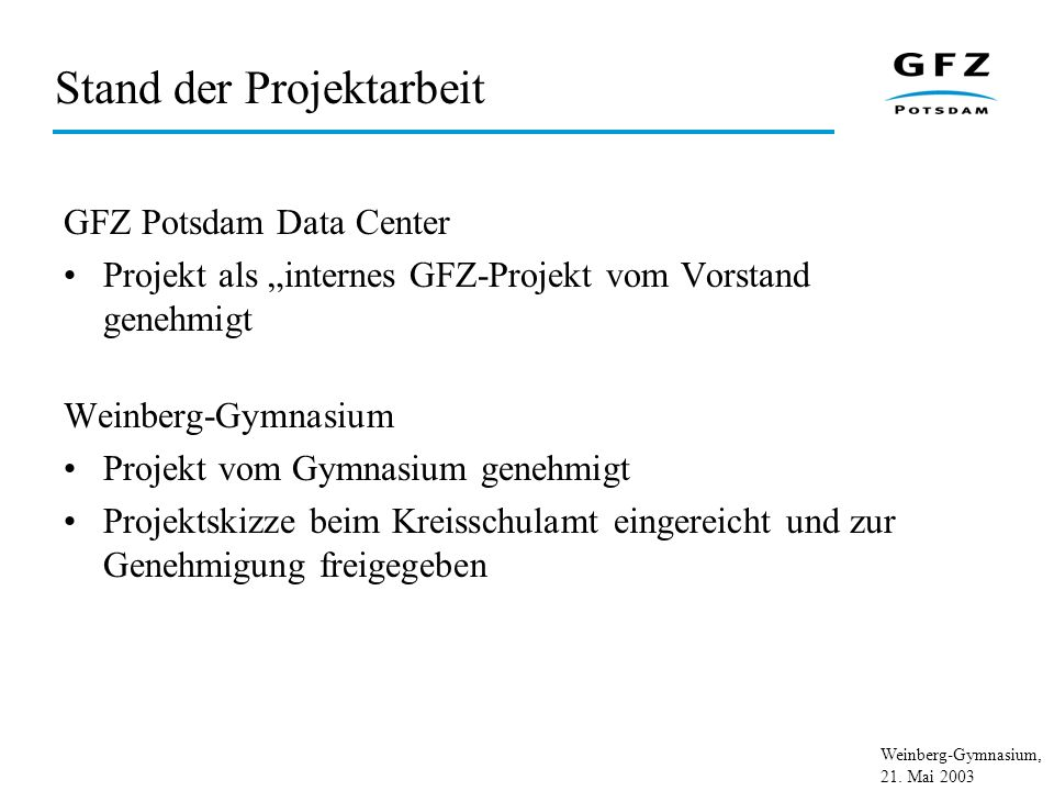 Weinberg-Gymnasium, 21.