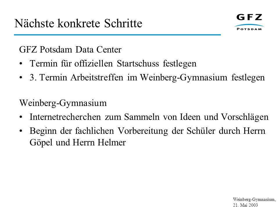Weinberg-Gymnasium, 21. Mai 2003 Vertrag (1)