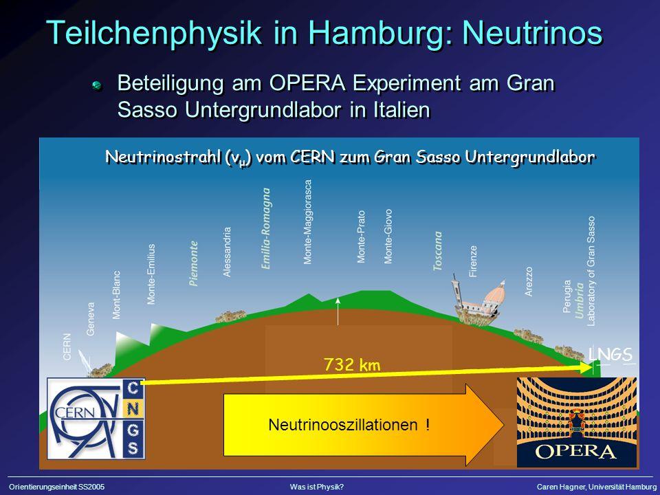 Gran Sasso Untergrundlabor LNGS Neutrinos vom CERN