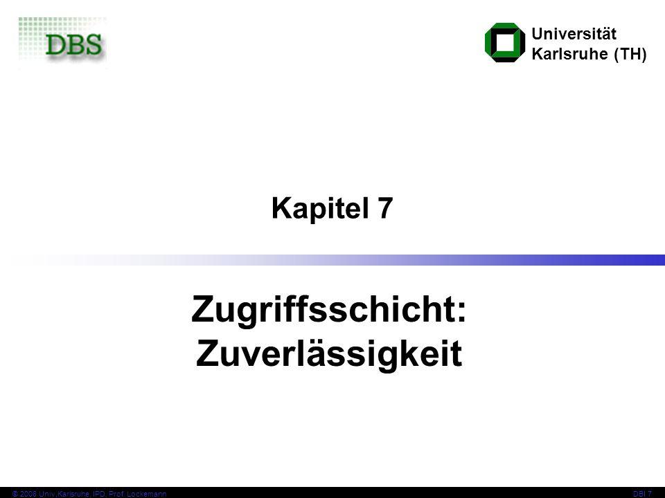 2 © 2008 Univ,Karlsruhe, IPD, Prof.