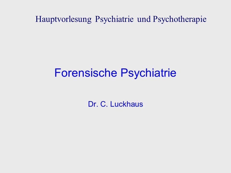 Forensische Psychiatrie – Begriffsbestimmung befasst sich mit Fragen, die von Gerichten und Behörden an Psychiater gestellt werden psychiatrischer Sachverständiger, Gutachter befasst sich mit medizinischen und psychischen Problemen psychisch Kranker mit Bezug auf ihre Fähigkeiten zu rechtsrelevantem Handeln psychiatrischer Therapeut im Maßregelvollzug