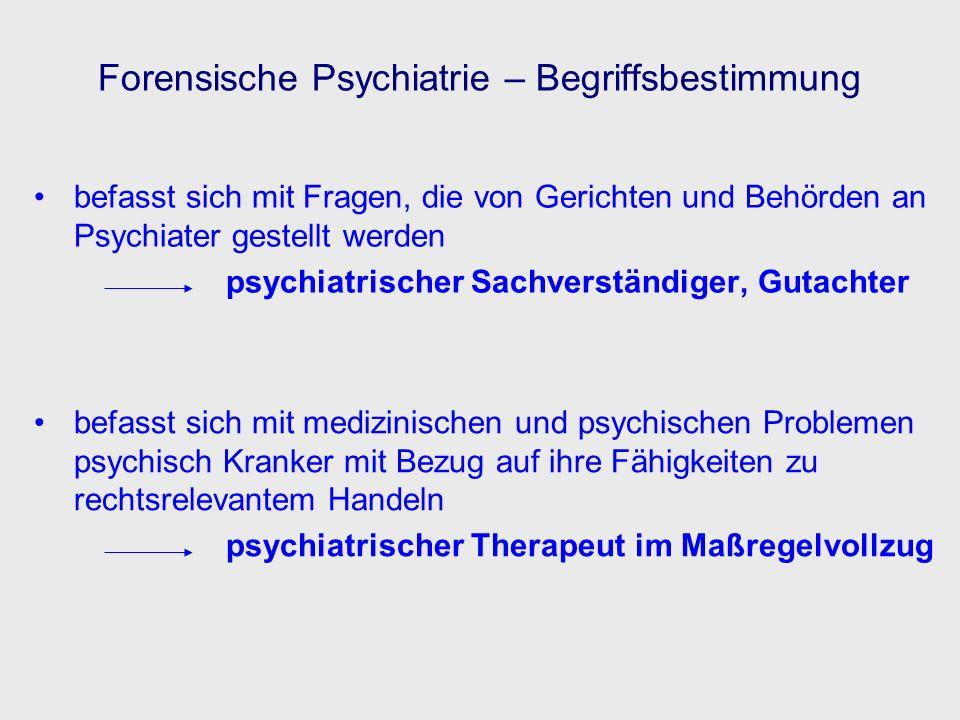 Psycho- pathologie Neuro- wissenschaften Rechts- wissenschaften Kriminologie Sozial- psychiatrie Sucht- medizin Pharmako- therapie Psycho- therapie Psycho- logie Forensische Psychiatrie Forensische Psychiatrie - Standortbestimmung