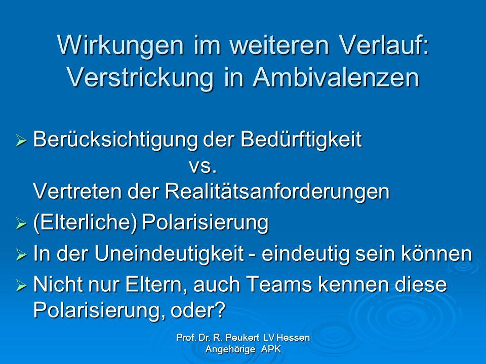 Prof. Dr. R. Peukert LV Hessen Angehörige APK Was lehrt uns das?