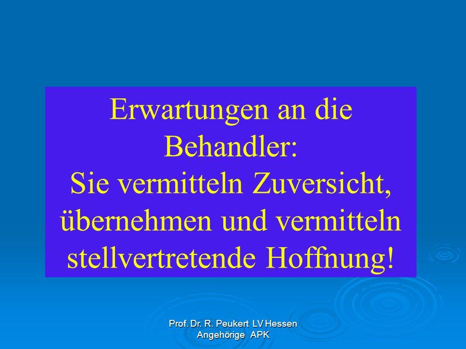 Prof. Dr. R. Peukert LV Hessen Angehörige APK Noch viel zu oft: Halt ! Schweigepflicht !!!