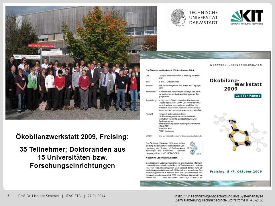 Institut für Technikfolgenabschätzung und Systemanalyse Zentralabteilung Technikbedingte Stoffströme (ITAS-ZTS) 4Prof.