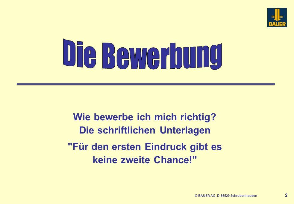 © BAUER AG, D-86529 Schrobenhausen 3