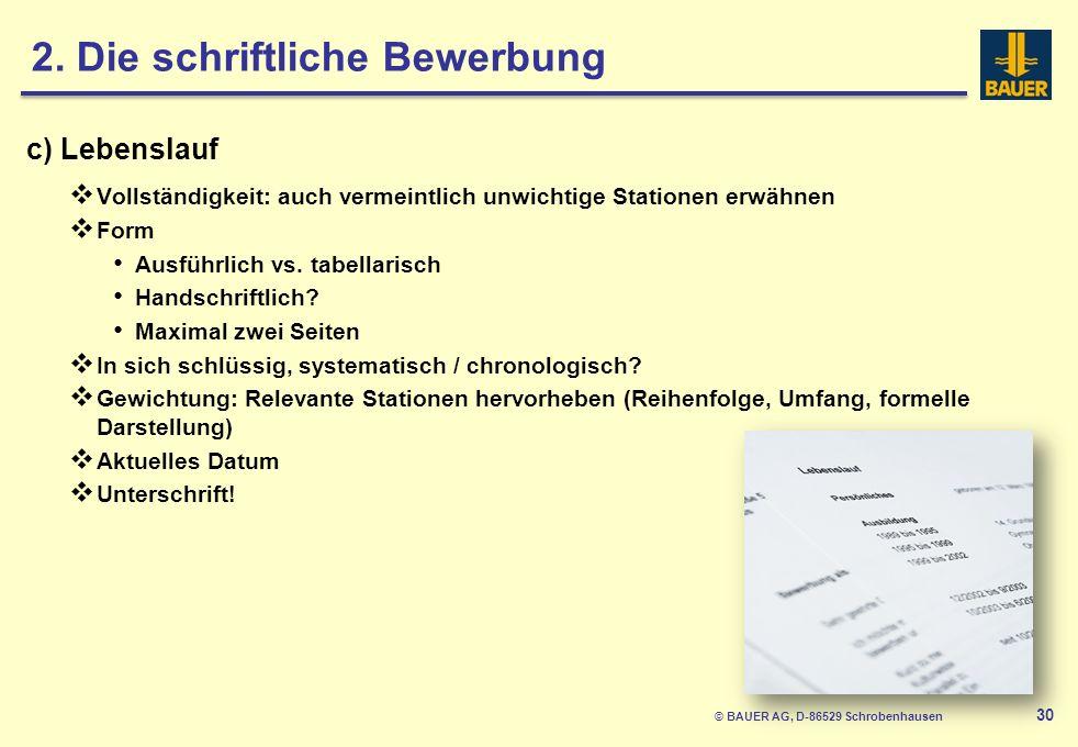 © BAUER AG, D-86529 Schrobenhausen 31