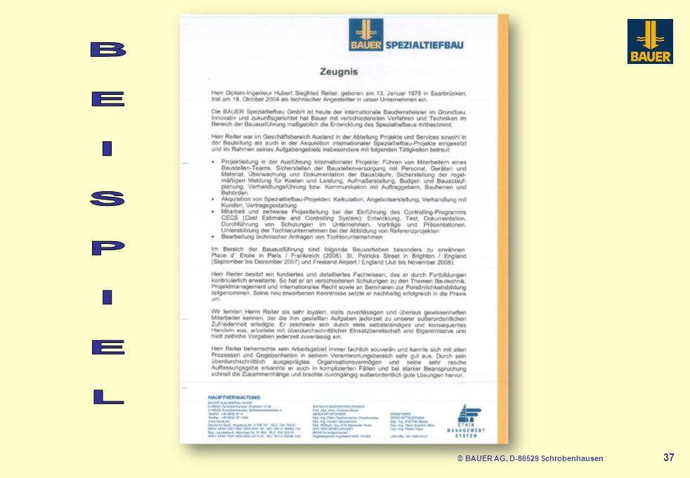 © BAUER AG, D-86529 Schrobenhausen 38 Elektronische Bewerbung Seriöse Mail-Adresse Kein Werbeanhang Anlagen komplett, aber nicht zu groß (Datenmenge!) heidis_almöhi123@hotmail.com audifan@freemail.de GRATIS für alle WEB.DE-Nutzer: Die maxdome Movie-FLAT.