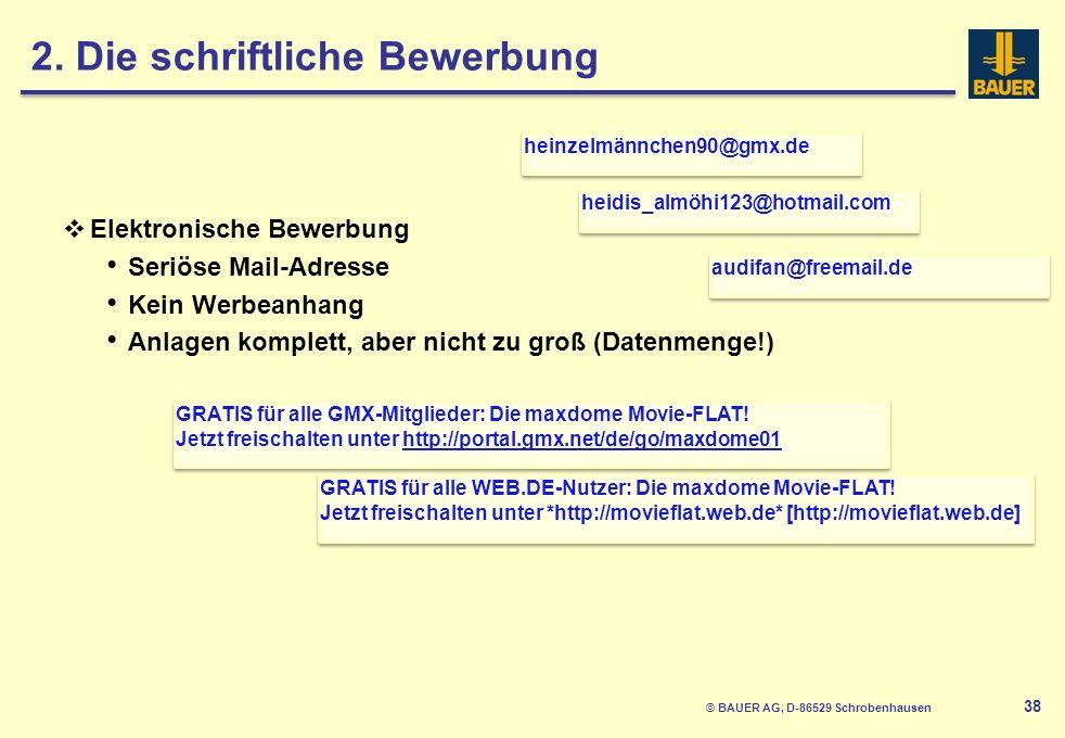 © BAUER AG, D-86529 Schrobenhausen 39 Fazit Fehlerfrei.