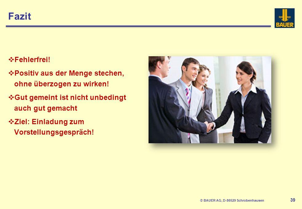 © BAUER AG, D-86529 Schrobenhausen 40 3.