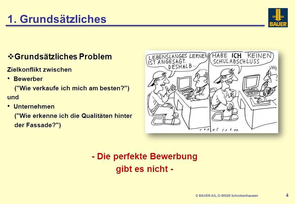 © BAUER AG, D-86529 Schrobenhausen 5 Vielfältige Abhängigkeiten Angestrebte Stelle Auszubildender vs.