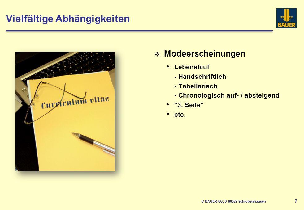 © BAUER AG, D-86529 Schrobenhausen 8