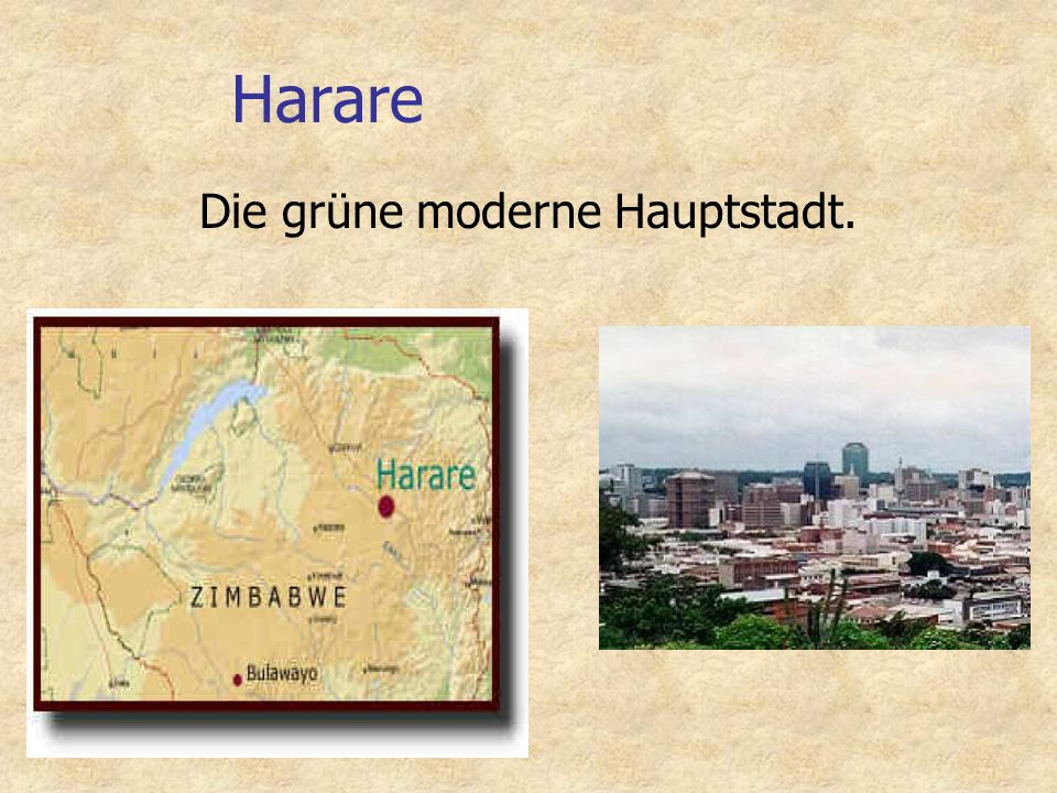 Harare Die grüne moderne Hauptstadt.