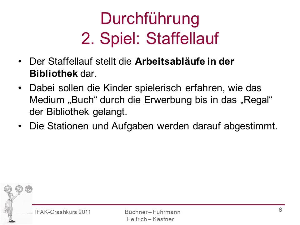 IFAK-Crashkurs 2011 Büchner – Fuhrmann Helfrich – Kästner 7 Station 1 Die Buchhandlung