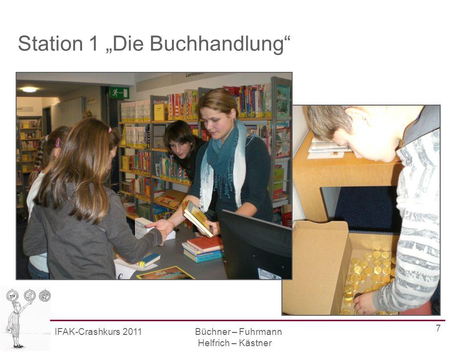 IFAK-Crashkurs 2011 Büchner – Fuhrmann Helfrich – Kästner 8 Station 2 Die Einbandstelle