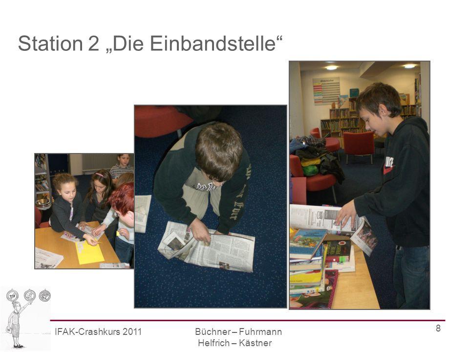IFAK-Crashkurs 2011 Büchner – Fuhrmann Helfrich – Kästner 9 Station 3 Das Buch im Regal