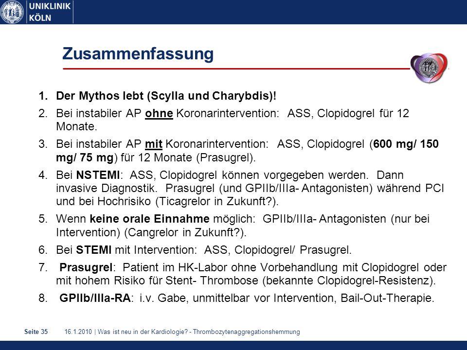 16.1.2010 | Was ist neu in der Kardiologie.