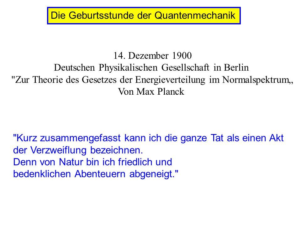 Planck: black body radiation: quantized oscillators in the walls: E resonator = nh Einstein: radiation itself is quantized E photon = h