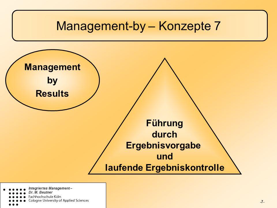 -8- Integriertes Management – Dr.M.
