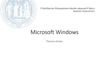 Microsoft Windows Theresa Grüter