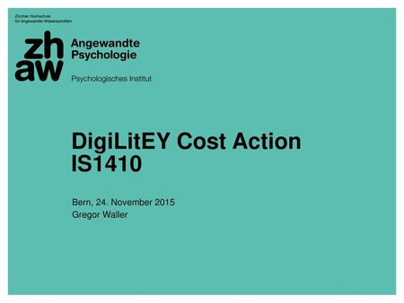 DigiLitEY Cost Action IS1410
