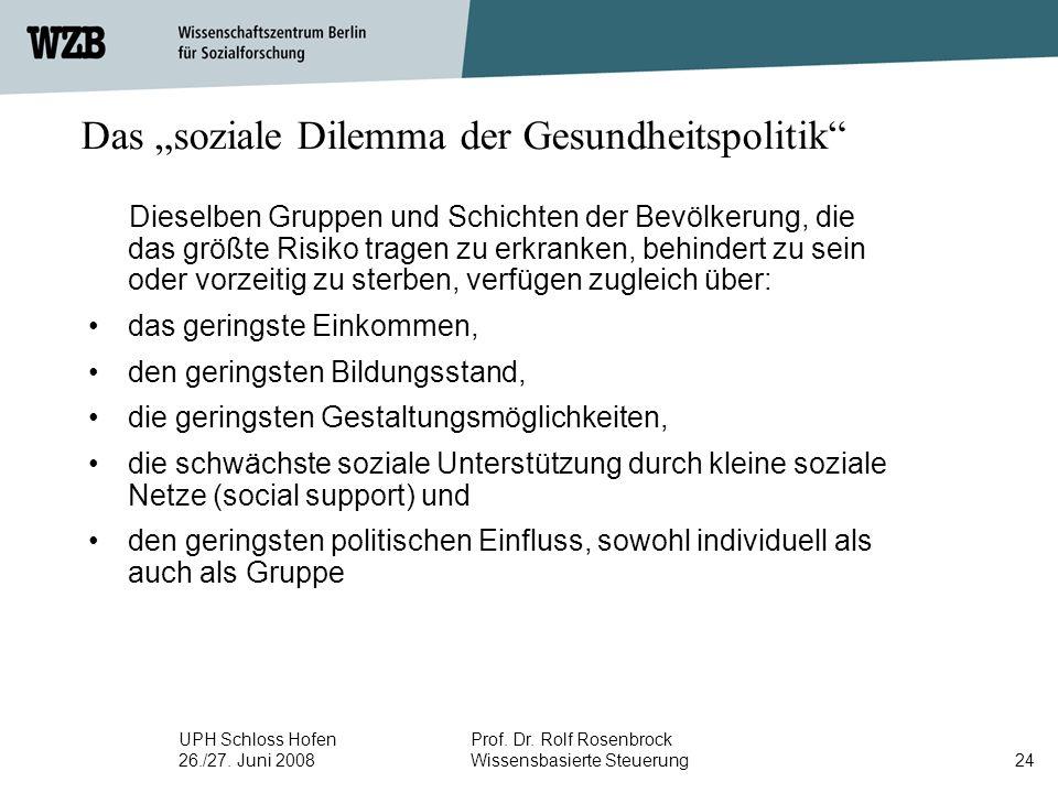 UPH Schloss Hofen 26./27. Juni 2008 Prof. Dr. Rolf Rosenbrock Wissensbasierte Steuerung25