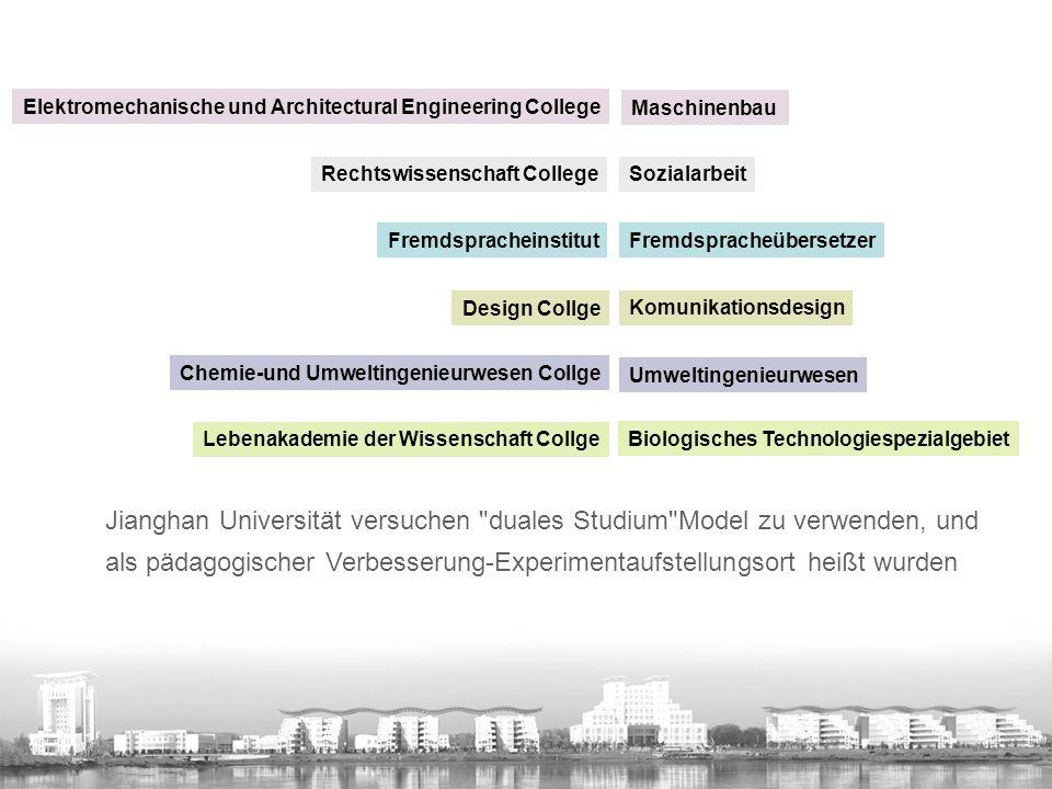 感谢德国 双元制 教学模式给中国职业教育和高等教育所带 来的全新理念。感谢德国赛德尔基金会每年派代表来我校指导。 在应用型人才培养的道路上,江汉大学将一如既往以校企合作为 依托,大力推广产学研结合模式,以 双元制 模式的创新导入, 推进学科发展与创新人才培养,为地方社会经济发展输送更多的 高级人才。