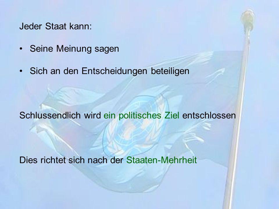 Gründung der UNO Wurde kurz nach dem 2.