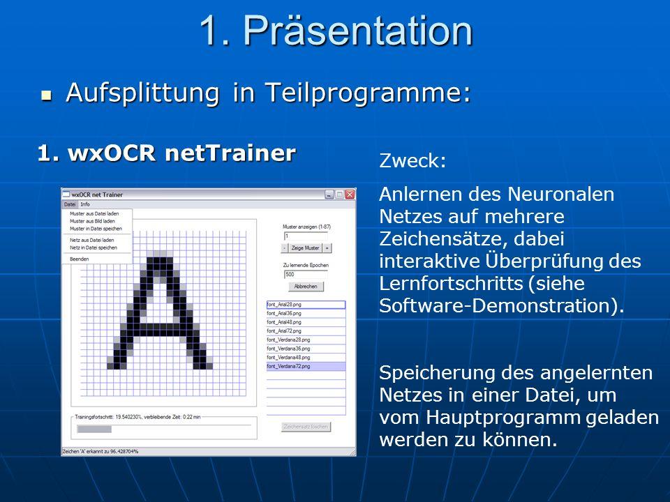 1.Präsentation 2.