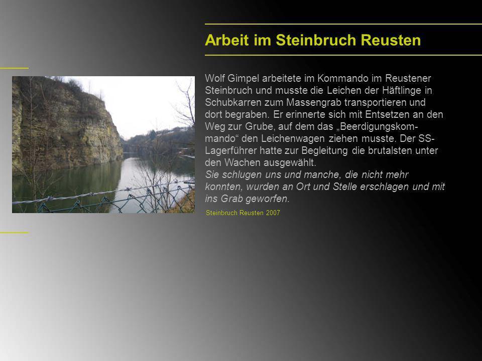 Dautmergen-Todesmarsch Nach der Auflösung des Lagers Hailfingen wurde Wolf Gimpel nach Dautmergen deportiert.