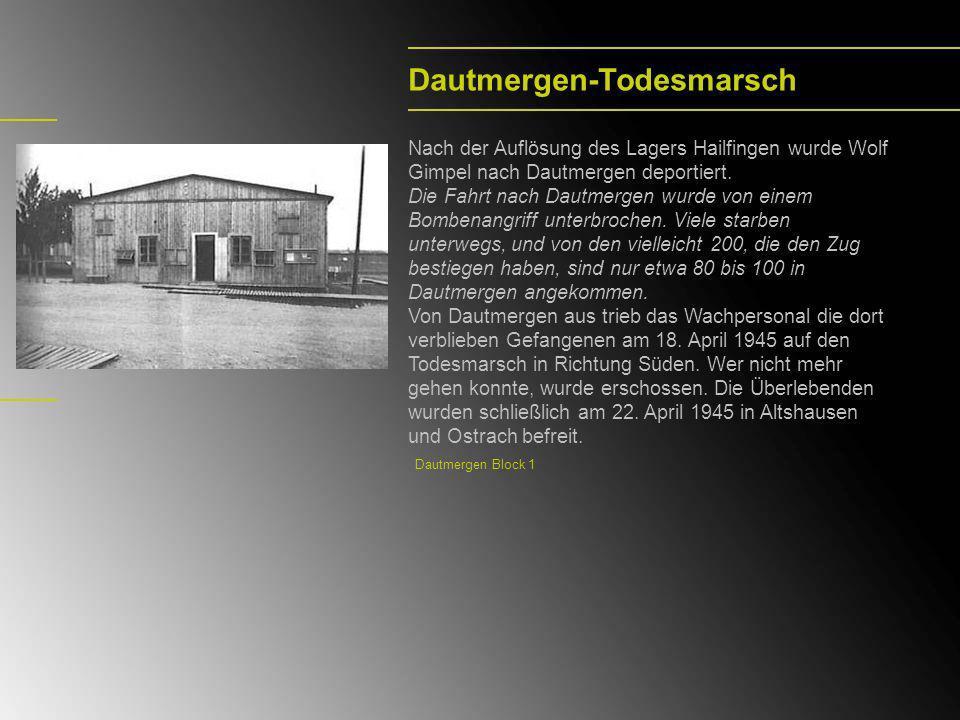 Landsberg-München Von April 1945 bis August 1945 war Wolf Gimpel in Landsberg und ab August 1945 in München.