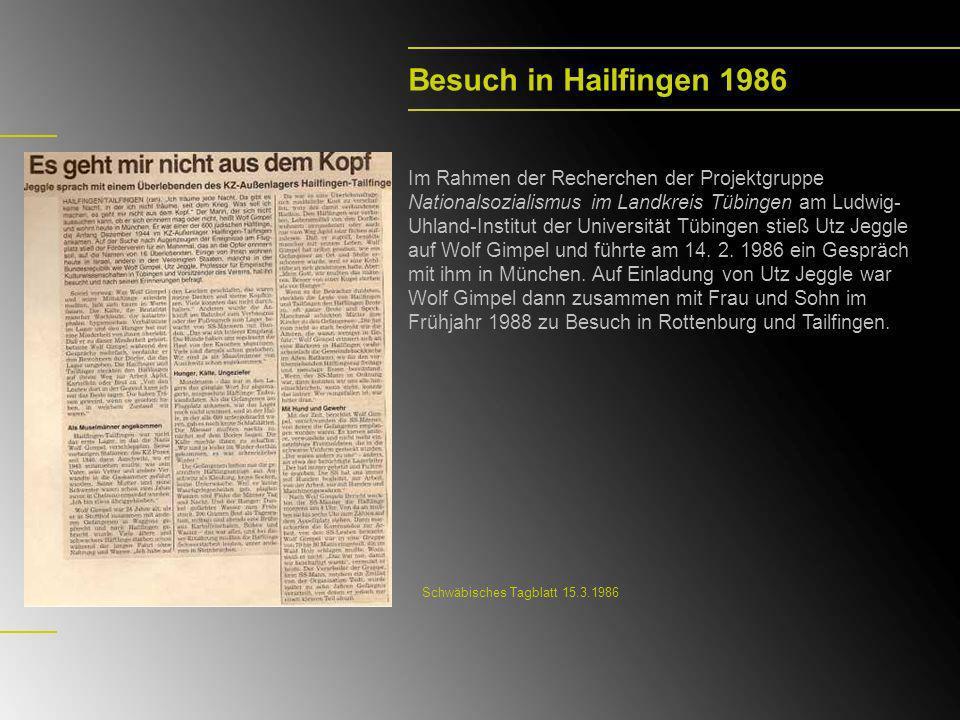 Die Rückkehr 1991/1992 wurde mit ihm im Auftrag des Hauses der Geschichte Baden-Württemberg von Wolfram Frank der Dokumentarfilm Die Rückkehr – Das Zeugnis des Wolf Gimpel gedreht.