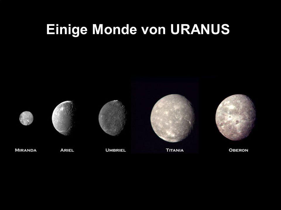 Durchmesser: 49.528 Km Rotation: 16,1 Stunde Entfernung von der Sonne : 4.504.000.000 Km Umlaufzeit: 164,79 Jahre Gravitation (Erde=1): 1,19 Monde: 13 NEPTUN