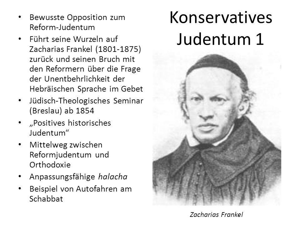 Konservatives Judentum 2 Gründergestalt: Solomon Schechter (1848-1915) Genisa-Forscher und Kanzler bzw.